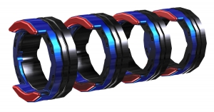 FE 4R 1.0-1.2MM / 0.04-0.045 INCH BLUE/RED